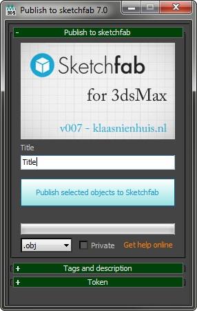 Install the Sketchfab Publisher - Klaas Nienhuis