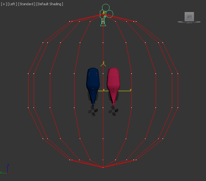 spherical animated camera rig around engines
