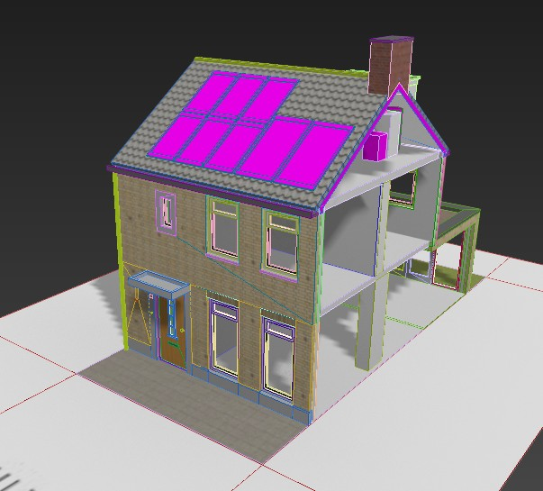 This model in 3ds Max has many variations or states