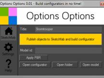 OptionsOptions main window