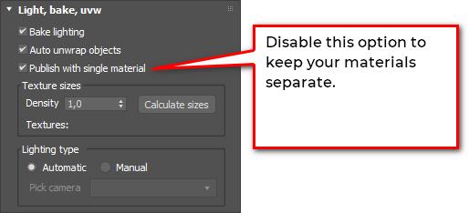 sketchfab exporter keep materials separate