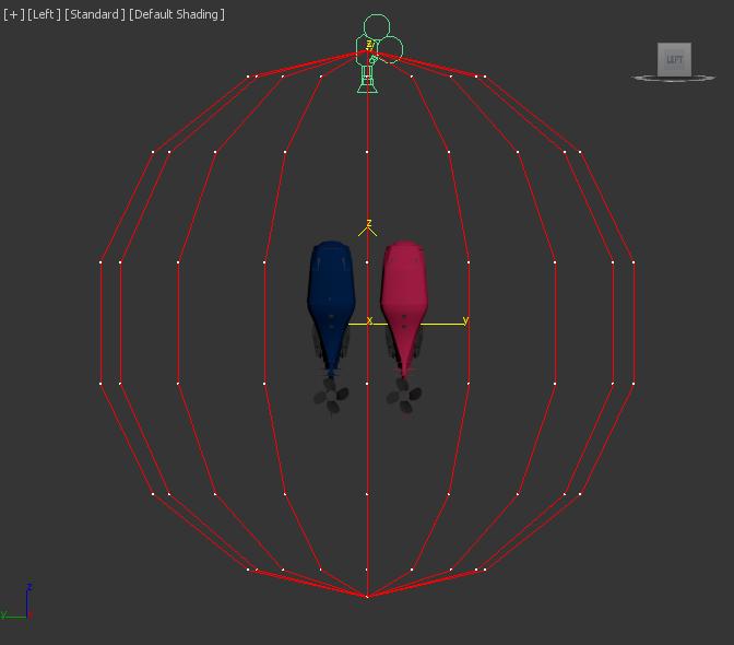 spherical animated camera rig around engines