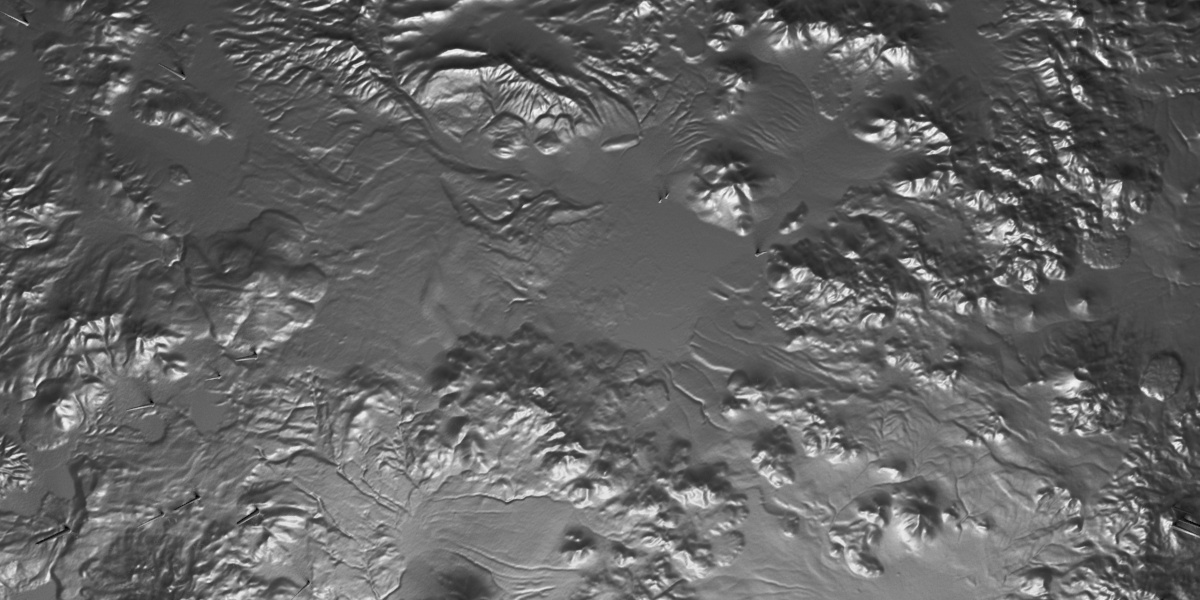A rendered piece of 3D terrain