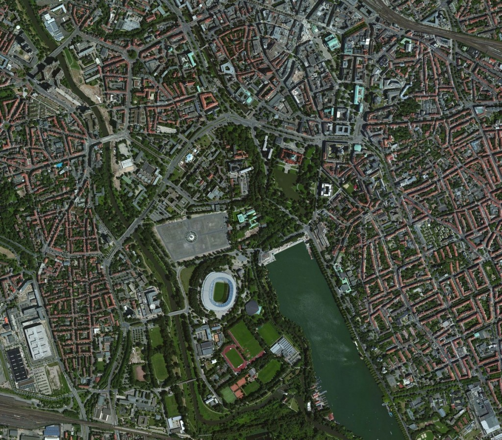 The downloaded map of Hannover