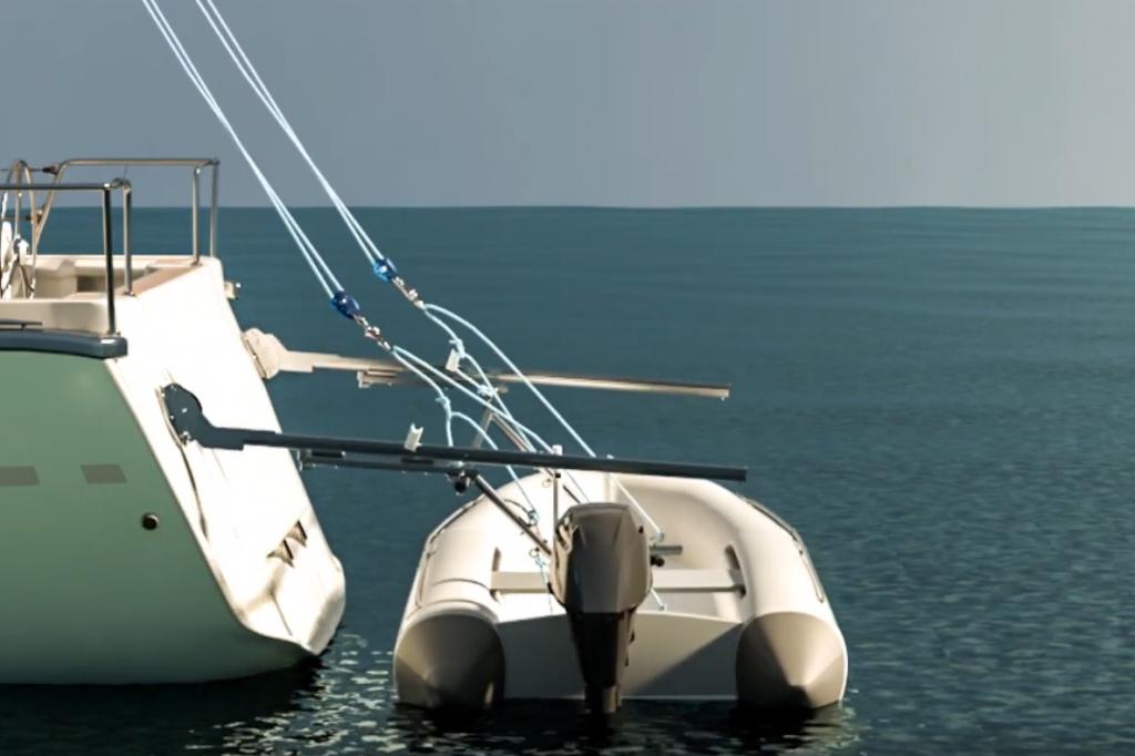 derrick dinghy launched