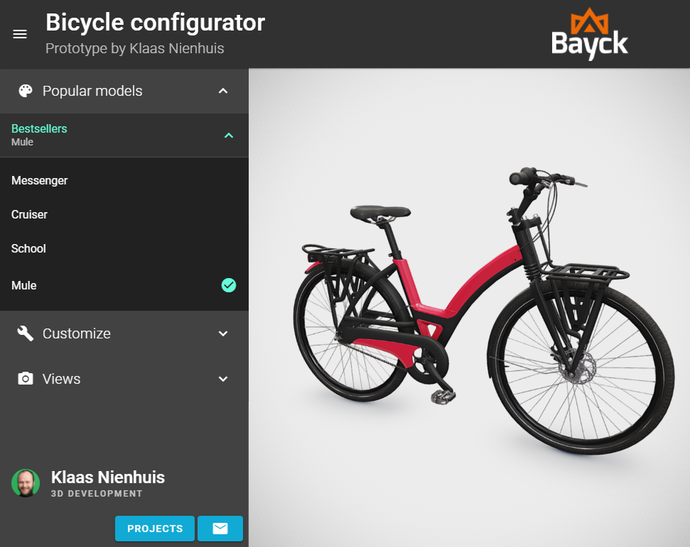 bike configurator presets